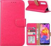Xssive Hoesje Voor Huawei P30 - Book Case - Pink