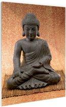 Hindoe Boedha standbeeld Glas 60x90 cm - Foto print op Glas (Plexiglas wanddecoratie)