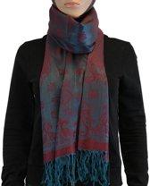 Sjaal / Shawl / Omslagdoek 100% Pashmina Rood Groen Multi Color