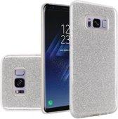 Samsung Galaxy S8 Hoesje - Glitter Backcover - Zilver