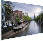 De Prinsengracht van Amsterdam bij daglicht Plexiglas 180x120 cm - Foto print op Glas (Plexiglas wanddecoratie) XXL / Groot formaat!