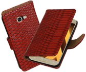 BestCases.nl Rood Slang booktype wallet cover hoesje Samsung Galaxy A5 2017