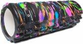 #DoYourFitness - Fascia rol - »Khanna« - foam roller voor pilates en zelfmassage - L34cm x D14cm - Multi-Color : Zwart