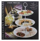 Etagere Glas 3 Laags| Etagerie | Decoratie| Modern | Serveerschaal | 16,5cm - 20cm - 26,5cm