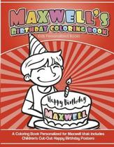 Maxwell's Birthday Coloring Book Kids Personalized Books