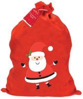 Rode Vilten Santa Kerst Zak 60 x 50 cm