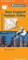 New England, Hudson Valley - Michelin Regional Map 581