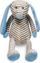 Knuffelhond blauw gestreept