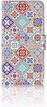 Samsung Galaxy A6 Plus 2018 Uniek Boekhoesje Tiles Color