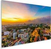 Kleuren in de lucht boven Ho Chi Minhstad in Vietnam Plexiglas 120x80 cm - Foto print op Glas (Plexiglas wanddecoratie)
