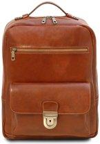 Tuscany Leather leren laptop rugzak Kyoto - Cognac - TL141859