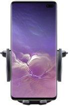 Shop4 - Samsung Galaxy S10 plus Autohouder Verstelbare CD Houder Zwart met Draaiklem Zwart