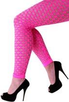 Dames naadloze gaten pink stretch legging