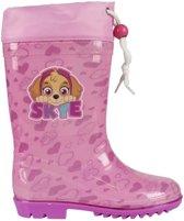 Roze Paw Patrol regenlaarzen met koord voor meisjes 27-28