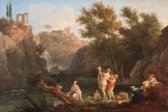 Claude-Joseph Vernet : The Four Times of Day, Evening (1757) Canvas Print