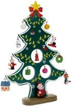Traditionele houten kerstboom met kersthangers - Kerst versiering en kerst decoratie - Kerst accessoires voor binnen - Christmas Forever