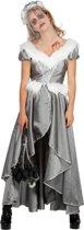 Elfen Feeen & Fantasy Kostuum | Groenlandse IJsprinses Grijs Zilver | Vrouw | Maat 40 | Carnaval kostuum | Verkleedkleding