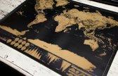 Kras Wereldkaart - Scratchmap Deluxe | Reiskaart XL - Scratchmap