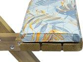 MaximaVida picknicktafel kussenpakket Dotan 55 x 27,5 x 5 cm - 4 stuks - waterafstotend