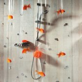 Spirella Goldfish - Douchegordijn - Oranje - Vinyl - 200 x 180 cm