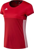adidas T16 'Oncourt' Short Sleeve Shirt Dames - Shirts  - rood - XL