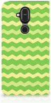 Hoesje met Magneet Nokia 8.1 Waves Green