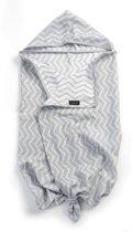 KipKep Blenker Badcape, handdoek met mutsje - maat M (100x70cm) - Indian Wig - Grey