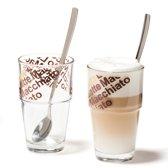 Leonardo Solo Latte Macchiato glazen - set van 2 incl. lepels