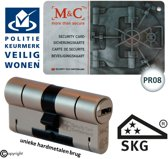 M & C Color Pro Anti kern & cilindertrek cilinder  32/47mm skg*** incl. 3 color Pro sleutels.
