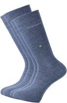 Actie 2-pack: Burlington sokken katoen (Everyday) - jeansblauw -  Maat 40-46