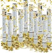 relaxdays 10-delige party popper set - confettikanon goud- confetti shooter - bruiloft