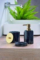 Zeepdispenser zwart marmer / zeep dispenser / pompje