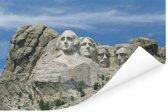 Mount Rushmore in de Verenigde Staten met een witte gloed Poster 120x80 cm - Foto print op Poster (wanddecoratie woonkamer / slaapkamer)