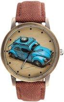 Fako Bijoux® - Horloge - Beetle - Bruin