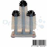 ProGlans® Spoelborstel voor (bier)glazen Flute 18x24x18cm Grijs met kunststof voet