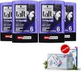 Schwarzkopf Taft Titane Power Gel 300ml - 4 Pack Voordeel + Gratis Oramint Oral Care Kit