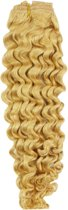 Remy Human Hair extensions curly 22 - blond 613#