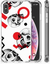 TPU-Siliconen Hoesje iPhone X | Xs Design Skull Red