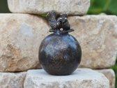Grafdecoratie - urn - bronzen beeld - Vogels - Bronzartes