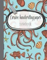 Cursive handwriting paper notebook