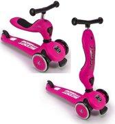 Scoot and Ride Roze - Highway Kick - Loopfiets en step in één - Voor kinderen van 1-5 jaar - Roze