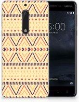 Nokia 5 Uniek TPU Hoesje Aztec Yellow