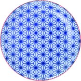 Tokyo Design Studio - star wave bord blauw 16x2cm
