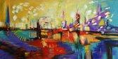 Schilderij abstract 100 x 50 Artello - Handgeschilderd