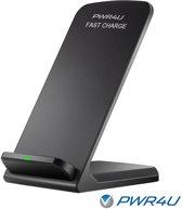 Draadloze Qi lader - Wireless Fast charger - staand model - geleverd met adapter - geschikt voor o.a. Samsung Galaxy en iPhone 8 modellen