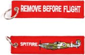 Sleutelhanger Spitfire & Remove before Flight