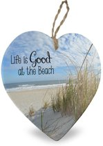 Life is good at the Beach Decoratie Hartje 15 x 1 x 15 cm
