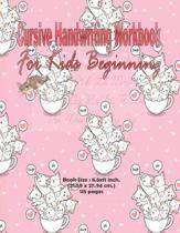 Cursive Handwriting Workbook For Kids Beginning: Cursive Handwriting Workbook For Kids, Alphabet Cursive Tracing Book, English Cursive Writing Book, D