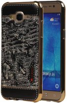 Wicked Narwal | M-Cases Croco Design backcover hoes voor Samsung galaxy j5 2015 J500 Zwart