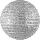 Decoratieve lampion zilver 20cm
